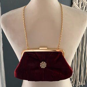 Handbags - Burgundy clutch